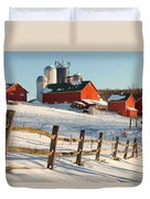 Happy Acres Farm Duvet Cover by Bill Wakeley