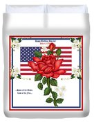 Happy Birthday America Duvet Cover by Anne Norskog