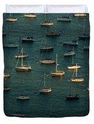 Harbor Sunset Chicago Duvet Cover by Steve Gadomski