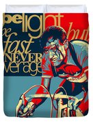 Hard As Nails Vintage Cycling Poster Duvet Cover by Sassan Filsoof