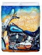Harley Hog i Duvet Cover by Hanne Lore Koehler