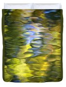 Harvest Gold Mosaic Duvet Cover by Christina Rollo