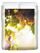 Harvest Time. Sunny Grapes I Duvet Cover by Jenny Rainbow