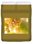 Harvest Time. Sunny Grapes Vi Duvet Cover by Jenny Rainbow