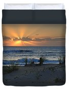 Hatteras Dawn Duvet Cover by Eric Albright