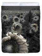 Haunting Sunflower fields 1 Duvet Cover by Dave Dilli