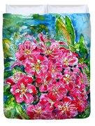 Hawthorn Blossom Duvet Cover by Zaira Dzhaubaeva