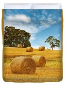 Hay Bales Duvet Cover by Amanda Elwell