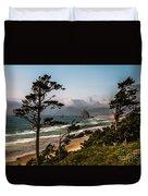 Haystack Framed Duvet Cover by Robert Bales