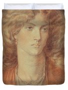 Head Of A Woman Called Ruth Herbert Duvet Cover by Dante Charles Gabriel Rossetti