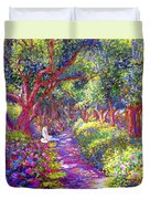 Healing Garden Duvet Cover by Jane Small