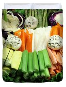 Healthy Veggie Snack Platter - 5d20688 Duvet Cover by Wingsdomain Art and Photography