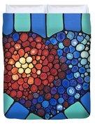 Heart Art - Love Conquers All 2 Duvet Cover by Sharon Cummings