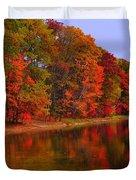 Heart of Autumn Duvet Cover by Terri Gostola