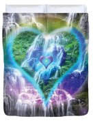 Heart of Waterfalls Duvet Cover by Alixandra Mullins