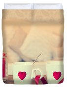 Heart Teacups Duvet Cover by Amanda And Christopher Elwell
