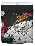 Help Santa's Stuck Duvet Cover by Jeffrey Koss