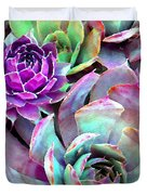 Hens and Chicks series - Urban Rose Duvet Cover by Moon Stumpp