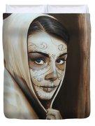 'hepburn De Los Muertos' Duvet Cover by Christian Chapman Art