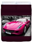 Her Pink Ferrari Duvet Cover by Matt Malloy