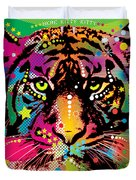 Here Kitty Kitty Duvet Cover by Gary Grayson