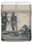 Heroes Duvet Cover by Laurie Search