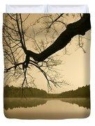Hewitt Pond Duvet Cover by David Gordon
