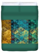 Hexagon Fractal Art Panorama Duvet Cover by Andee Design