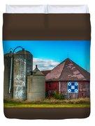 Hexagon Quilt Barn Duvet Cover by Paul Freidlund