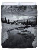 Hidden Beneath The Clouds Duvet Cover by Mike  Dawson