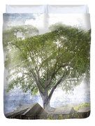 High In The Clouds Duvet Cover by Debra and Dave Vanderlaan