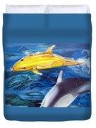 High Tech Dolphins Duvet Cover by Thomas J Herring