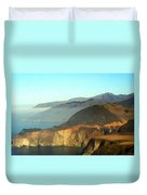Highway One Bixby Bridge Watercolor Duvet Cover by Barbara Snyder