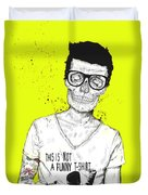 Hipsters Not Dead Duvet Cover by Balazs Solti