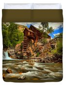 Historic Colorado Landscape Duvet Cover by Adam Jewell