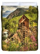 Historic Crystal Colorado Duvet Cover by Adam Jewell
