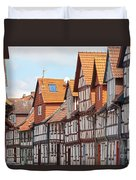 Historic Houses In Germany Duvet Cover by Heiko Koehrer-Wagner