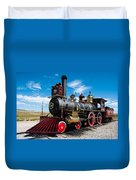 Historic Steam Locomotive - Promontory Point Duvet Cover by Gary Whitton