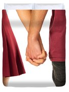 Holding Hands Duvet Cover by Carlos Caetano