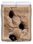 Holes In The Wall Duvet Cover by Bob Phillips