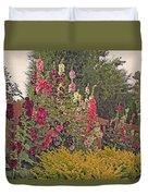 Hollyhocks Duvet Cover by Kay Novy