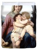 Holy Family Duvet Cover by William Bouguereau