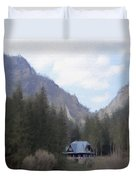 Home In The Mountains Duvet Cover by Jeff Kolker