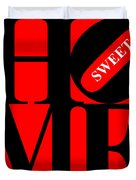 Home Sweet Home 20130713 Black Red White Duvet Cover by Wingsdomain Art and Photography