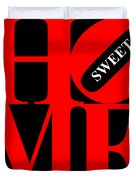 Home Sweet Home 20130713 Red Black White Duvet Cover by Wingsdomain Art and Photography