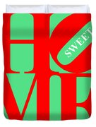 Home Sweet Home 20130713 Red Green White Duvet Cover by Wingsdomain Art and Photography
