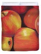 Honeycrisp Apples Duvet Cover by Anastasiya Malakhova