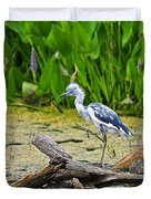 Hooligan Heron Duvet Cover by Al Powell Photography USA