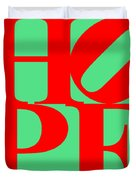 Hope 20130710 Red Green Duvet Cover by Wingsdomain Art and Photography