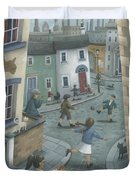 Hopscotch Down The Hill Duvet Cover by Peter Adderley
